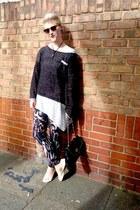 heather gray H&M t-shirt - light pink H&M pants - charcoal gray H&M jumper