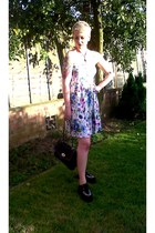 deep purple H&M dress - black Ebay shoes