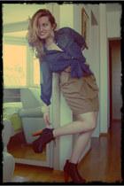 polka dots Stradivarius shirt - beige Stradivarius skirt