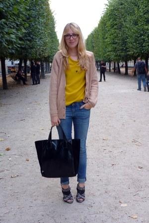 Zara cardigan - Zara bag