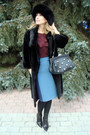 Black-gianmarco-lorenzi-boots-black-blackglama-coat