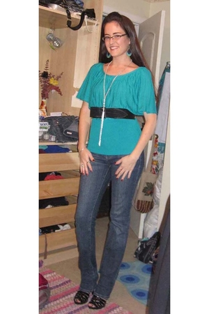 blue calvin klein jeans - black Steve Madden shoes - silver Body Central necklac