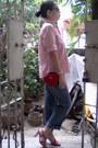Red-vintage-bag-brown-sunglasses-red-vintage-belt-pink-pinstripe-eddie-bau