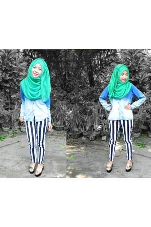 jeans shelldom jeans - cotton shelldom scarf