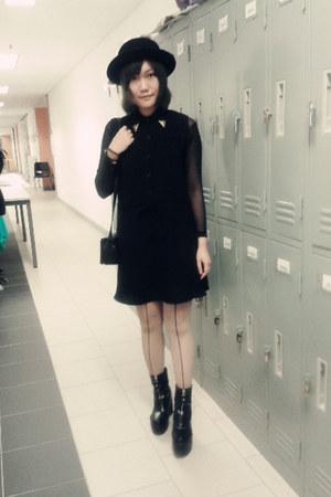 black hat - black black H&M hat