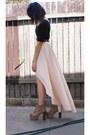 Light-pink-supre-skirt-tan-lita-jeffrey-campbell-boots-black-billabong-shirt