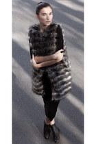 Zara vest - Forever 21 dress - Zara boots