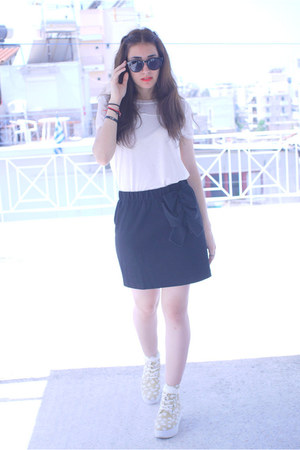 H&M shirt - Mango skirt - asos wedges