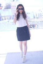 H&M shirt - Mango skirt - asos wedges