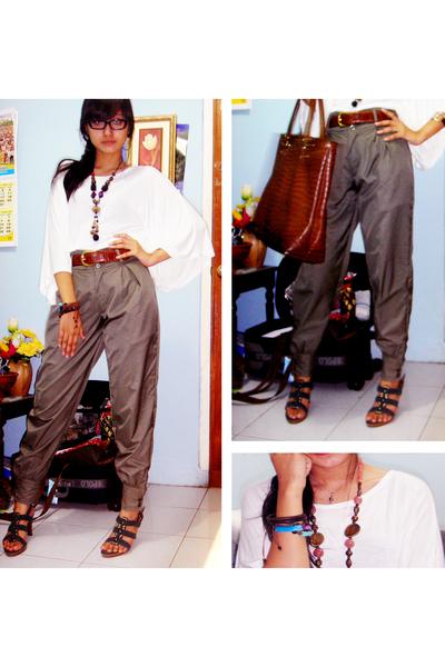 aigner belt - nouveau shoes - Mango accessories - top