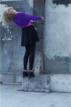 sweater - skirt - shoes - belt