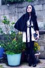 Hand-painted-ana-gonzlez-dress-satin-esprit-bag-ana-gonzlez-cape-vintage-s