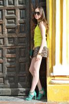 teal vintage bag - leopard print Forever 21 shorts