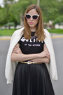 White-urban-outfitters-blazer-black-graphic-tee-shirt