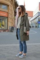 frida g coat - Levis jeans - River Island top
