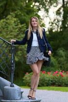 Zara skirt - Mango blazer - black gold Maison Mollerus bag - Zara heels