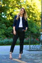 vivienne westwood pants - Mango blazer - Maison Mollerus bag - Zara heels
