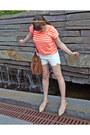 Studded-bag-urban-outfitters-bag-zara-shorts-striped-neon-gap-t-shirt