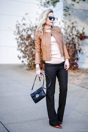 peach turtleneck Loft sweater