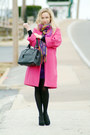 Purple-bluheaven-dress-hot-pink-narciso-rodriguez-coat-black-fabi-heels