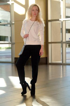 black BCBGeneration boots - heather gray vintage bag - black Apt9 pants