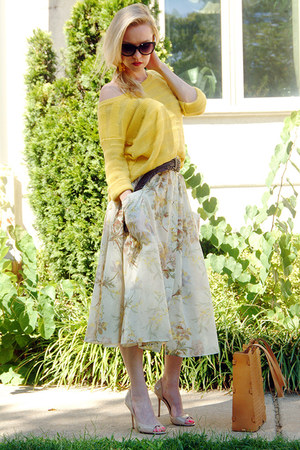 eggshell maxi skirt Mango skirt - light yellow cotton TJ Maxx sweater