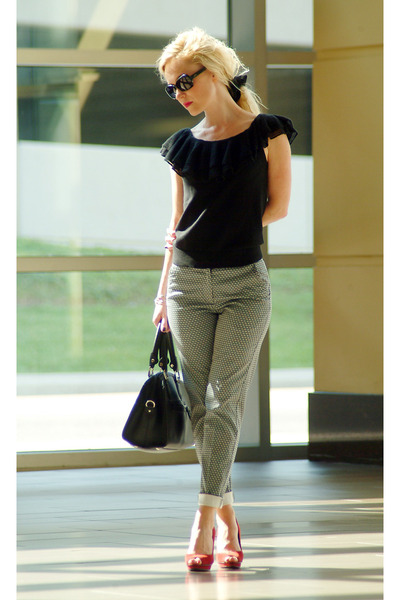 black London Fog bag - heather gray H&M pants - black Ralph Lauren top