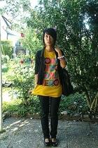 H&M kids corner blazer - Cheap Monday jeans - Zara shoes - Band merch t-shirt