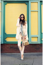 Bubble-gum-wool-sheinsidecom-coat-salmon-ray-ban-sunglasses