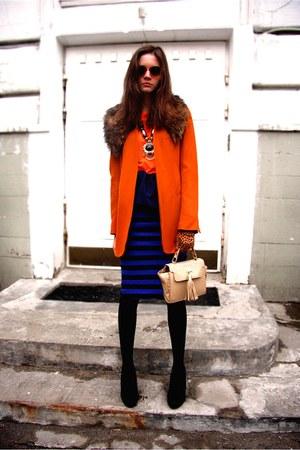 black Prada skirt - navy Peplum skirt skirt