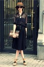 Tawny-vintage-hat-black-zara-skirt-black-maje-blouse-black-h-m-belt