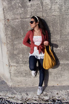 sissirossi bag - Calzedonia leggings - ivory intimissimi top - Superga sneakers