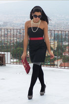 amy gee dress - SISI tights - Fergi bag - tiffi heels - Guess glasses