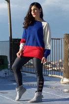 blue no brand sweater - navy Calzedonia leggings