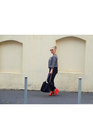 red max&co sandals - Zara blazer
