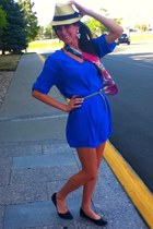 Jones New York scarf - BCBGMAXAZRIA dress - Target hat - Target flats