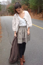 light brown madewell jacket - brown Jeffrey Campbell shoes