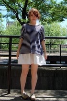 camel UO shoes - eggshell homemade dress - blue Ralph Lauren top