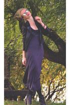 black romwe sunglasses - gray ClubCouture dress - black Rings&Tings ring