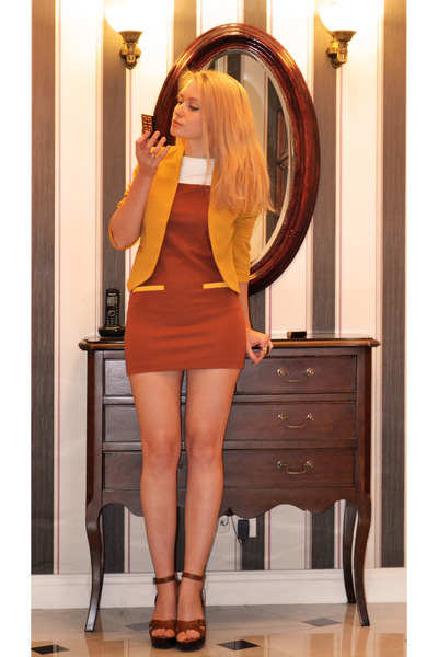 tawny Sheinside dress - mustard Kristinescollection blazer