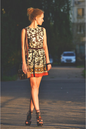jiglys dress - River Island bag - Steve Madden heels