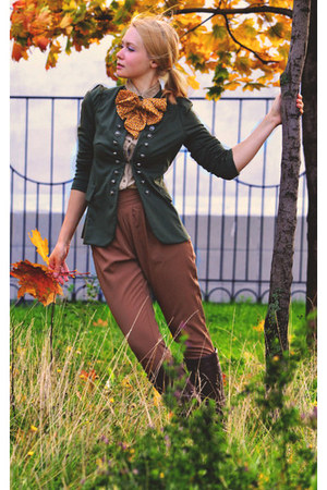 brown StyleSocietalcom pants - army green inlovewithfashion jacket
