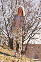tan Love jacket - ivory Choies jeans - cream asos bag - neutral asos jumper