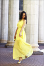 Yellow-chiffon-dresslink-dress