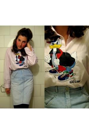 HENNES collection skirt - Segreta shirt - Gucci tights
