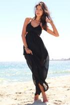black FlirtCatalog dress - silver Caroline Cree flats