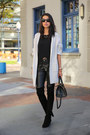 Black-stuart-weitzman-boots-dark-brown-yves-saint-laurent-bag