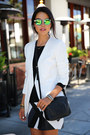 Black-bailey44-dress-white-cameo-blazer-black-gucci-bag