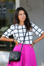 Black-gucci-bag-hot-pink-cameo-skirt-white-finders-keepers-top