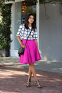 Black-gucci-bag-white-finders-keepers-top-hot-pink-cameo-skirt